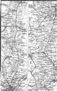 GT EASTERN RAIL: London, Ipswich, Bury, Norwich, 1874 map